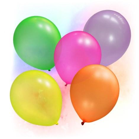 50 färgglada Neon UV ballonger