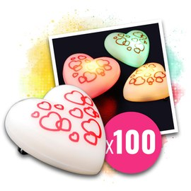 100x Love Messenger Blinkherzen