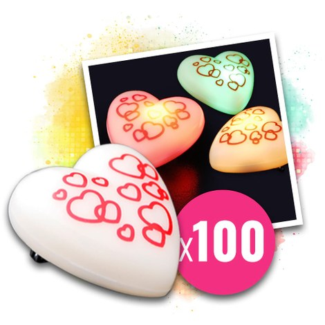 100x Blinkande Love Messenger-hjärta