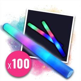 100 pz. Bacchetta Pom Pom con LED 48 cm
