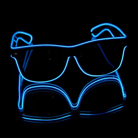 NEON EL Sunglasses - Blue