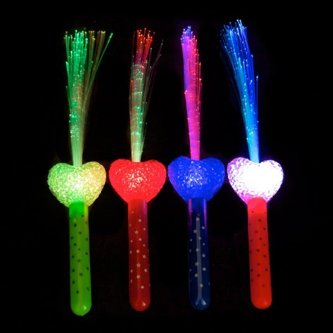 10x LED-waaier multicolor - Hart