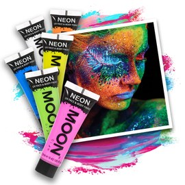 Neon UV Body Paint Set - 6 x 12 ml – Bild 1
