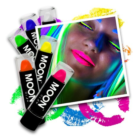 Neon UV Lippenstift Set
