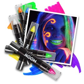 Neon UV Paint Stick - 6 Farben Set