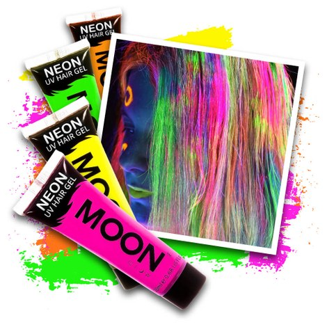 Neon UV hair gel - 4 colours set