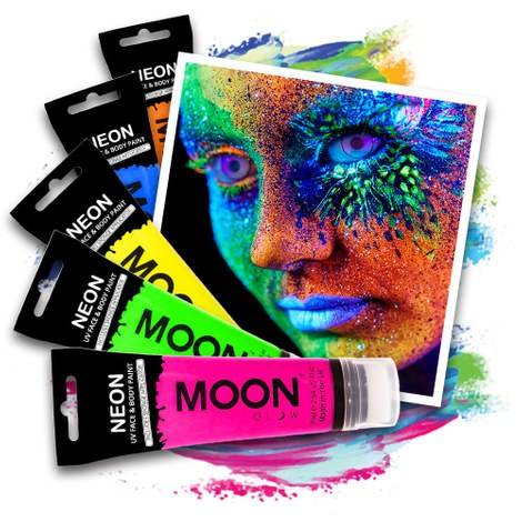 Neon UV Bodypaint Set 375 ml - 5x75 ml