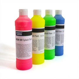Neon UV Splash paint Set 4 x 500ml