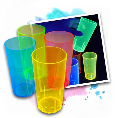100 UV Cups 250 ml 4 colours