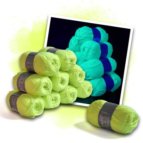 Neon wool yellow - 10 skeins
