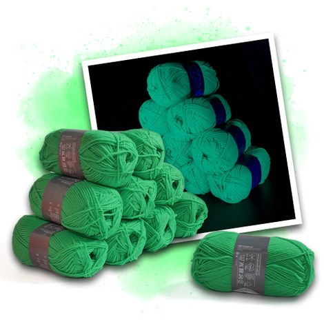 Neon wool green - 10 skeins