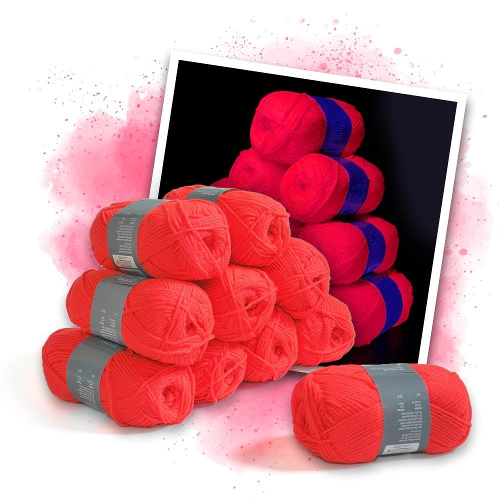Neonfärgat rosa garn -10 stycken - Eventlights.shop 52c3846774fca