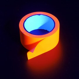 Neon UV tape - Orange, 20 m – Bild 4