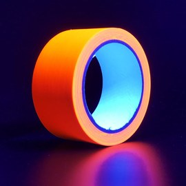 Neon UV tape - Orange, 20 m – Bild 3