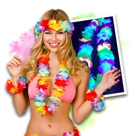 Neon UV Hawaiian Party Set (12 items)