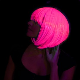 Neon Party Wig Bob Set - 1x pink & 1x green – Bild 5