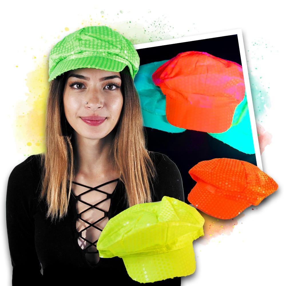 Neonska UV kapa - žuta, narančasta, zelena