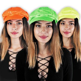 Neon UV cap set - yellow, orange, green – Bild 2