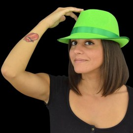 Zestaw kapeluszy Neonowych UV - zielony, żółty, różowy – Bild 3