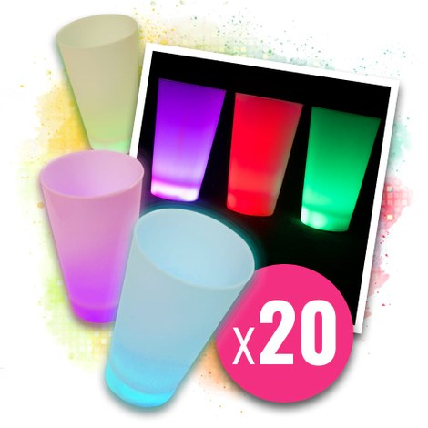 20x LED-glas multicolor