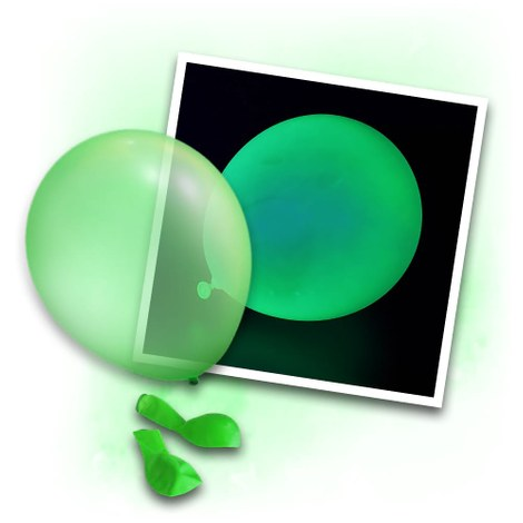 50 green Neon UV Balloons