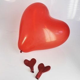 Red Heart Balloons - 100 pieces – Bild 2