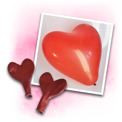 Red Heart Balloons 30 cm - 100 pieces