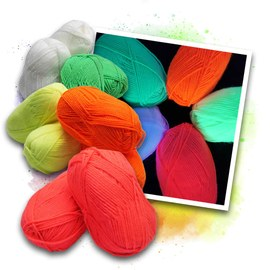 Neon UV acrylic wool - 2x5 colours – Bild 1