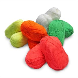 Neon UV acrylic wool - 2x5 colours – Bild 3