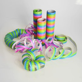 Streamers in neon colours - 216 pieces – Bild 4