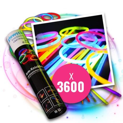 3600 Knicklichter-Armbänder BEST PREIS