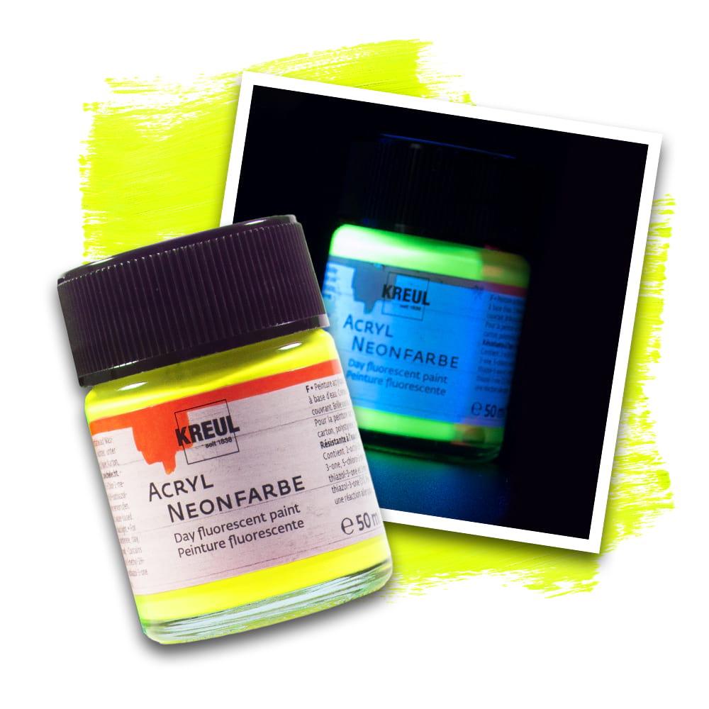 KREUL Acryl Neonfarbe Neongelb 50 ml