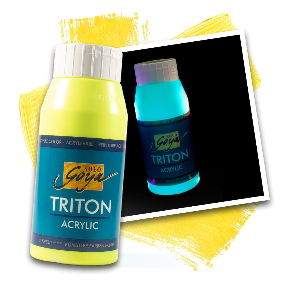 SOLO GOYA Triton Acrylic Fluoreszierend Gelb 750 ml
