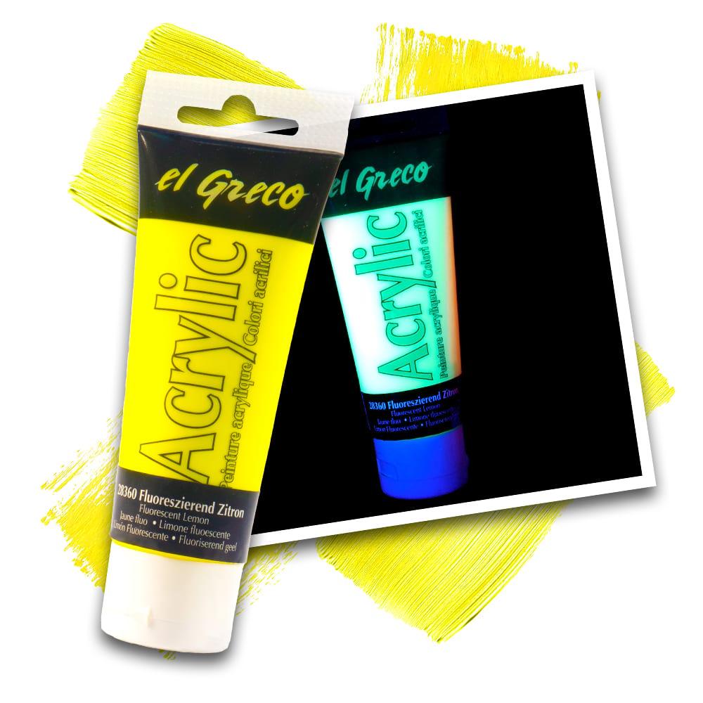 KREUL el Greco Acrylic Fluoreszierend Zitron 75 ml Tube