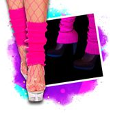 Black light neon leg warmers - pink