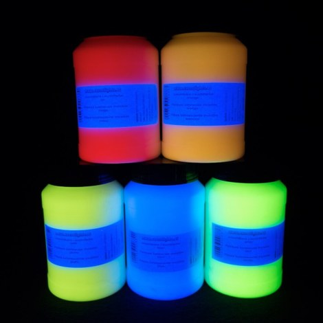 Invisible UV glow paint 250 ml