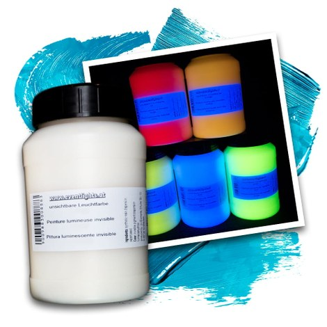 Pittura luminescente invisibile 250 ml