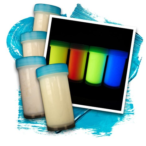Invisible UV glow paint 4x50ml