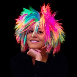 Punk style rainbow wig - 3 pcs – Bild 3