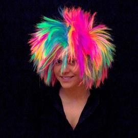 3x Perruque punk fluo arc-en-ciel – Bild 4