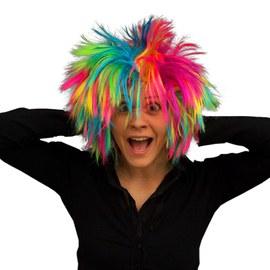 Punk style rainbow wig - 3 pcs – Bild 2