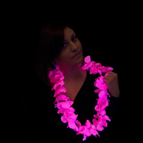 12x Hawaiian necklace - UV - pink
