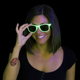 Neon UV Sunglasses green – Bild 2