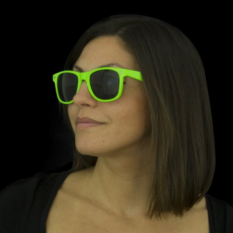 12x Neon UV Sunglasses green