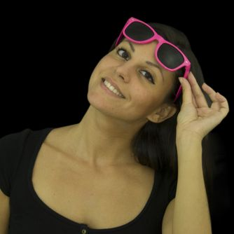 Neon Party Sonnenbrille pink