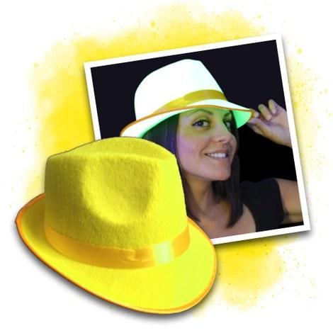 UV/ Неонова парти шапка жълта