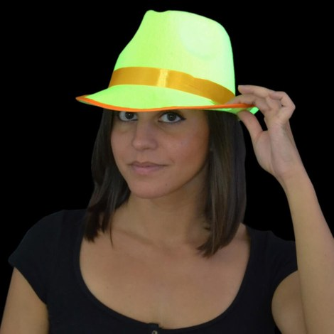 3x UV Neon Tribly Hat yellow