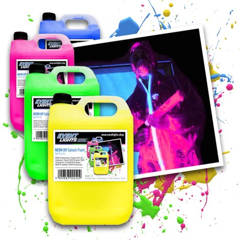 Neon UV Splash verf 4x5 liter