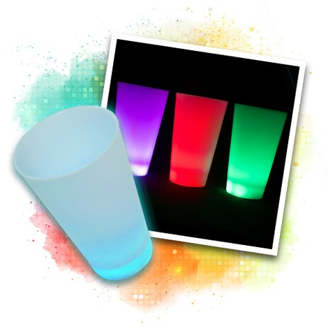 LED Leuchtbecher multicolor