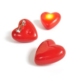 150x Flashing LED hearts – Bild 2